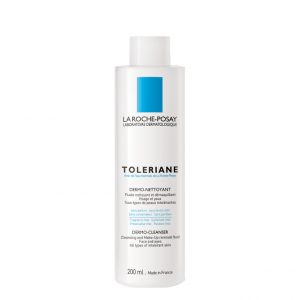 La roche posay toleriane dermo-cleanser make-up removal milk for intolerant skins with a tendency to dry. Formulated without soap, parabens, alcohol or dyes. 200ml 6.7 FL.OZ.