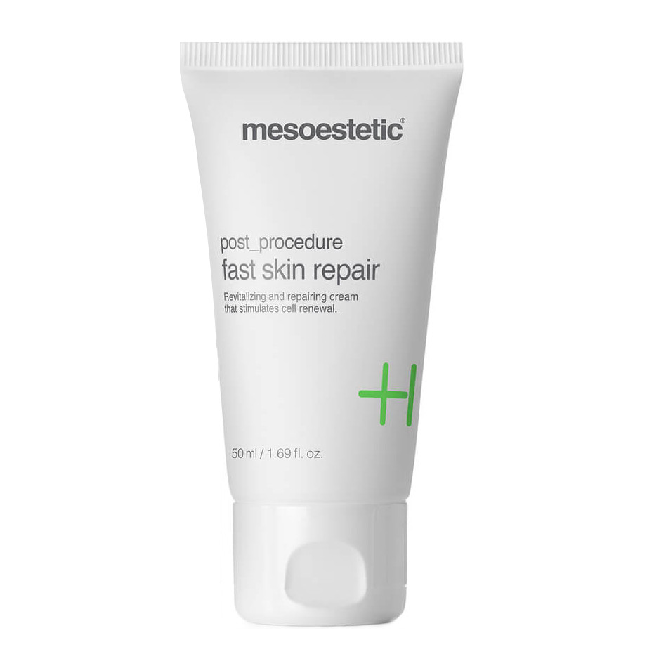 Mesoestetic Post-Procedure Fast Skin Repair is an intensive repair cream that helps to heal and soothe the skin subject to medical-aesthetic procedures, which become inflamed and edema. 50ml
