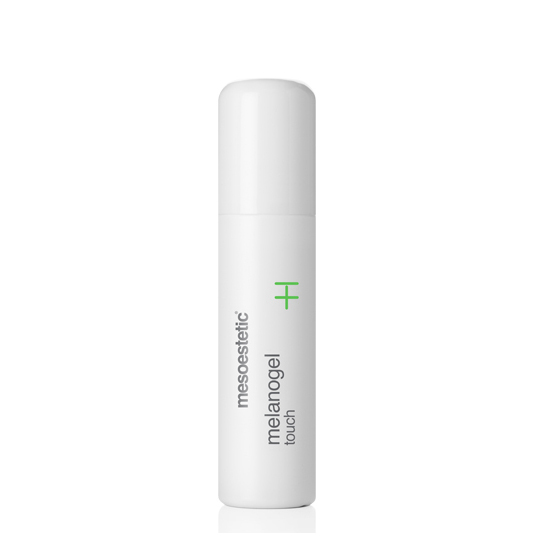 Mesoestetic Melanogel Touch Roll-On is a localized depigmentation treatment of spots of melanic origin. Its roll-on presentation allows for multiple applications throughout the day, increasing the effectiveness of the treatment. 15ml