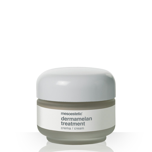 Mesoestetic Dermamelan is an intensive depigmenting treatment cream, indicated for the correction of the hyperpigmented spots and regulation of the production of melanin. It is a home treatment to use after medical treatment in cabin with the Dermamelan Pack. 30g