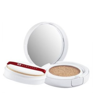 Erborian liquid bb cream au ginseng makeup-care cushion compact doré 14g