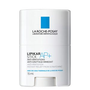 La Roche Posay Lipikar AP [+] Stick SOS anti-itch stick for atopic skin with itching. Instantly relieves the urge to itch and reduces the lesions of atopic skin and with eczema. Ideal to use whenever necessary to avoid the use of corticosteroids. Suitable for babies. 15ml
