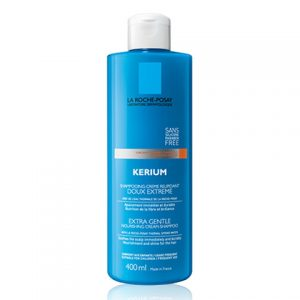 La roche posay kerium extra gentle in a shampoo-cream texture for dry scalp prone to sensitivity. It soothes irritations of the scalp and protects the skin from the dryness of limescale in the water. Formulated without parabens and without silicone can be used daily even by children. 400ml