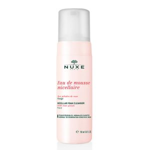 Nuxe micellar foaming cleanser with rose petals 150ml