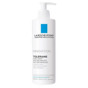 La Roche Posay Toleriane Caring Wash is a cleansing cream for sensitive, reactive and allergic skin. Formulated with only 1 cleansing ingredient and 4 skin care ingredients, it features a minimalist formula. Formulated without soap, without sulfates, oil free, fragrance free, non-comedogenic, allergy tested and without parabens! 400ml