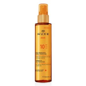 Nuxe Sun Tanning Oil Anti-Aging SPF10 Face and Body 150ml