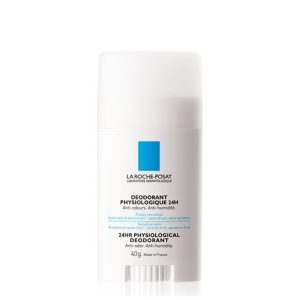 La roche posay 24h physiological stick deodorant aluminium salts-free - high tolerance physiological deodorant in bar format, with 24h efficacy is ideal for skins sensitive to aluminum salts. 40g