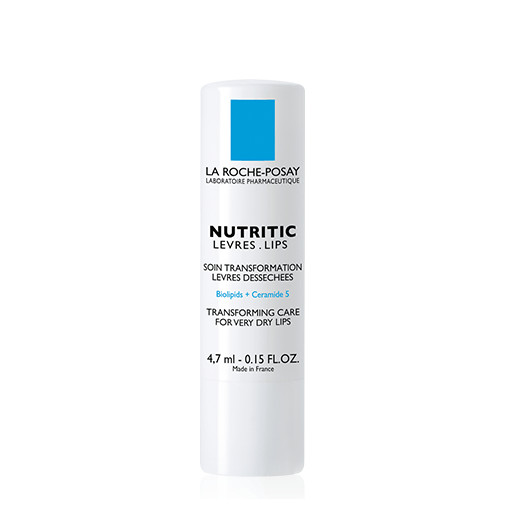La roche posay nutritic lips transforming care for dry and sensitive lips, which relieves the sense of stinging and sensitivity, prevents cracks formation and increases the skin resistance. 4,7ml
