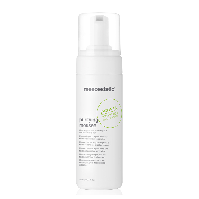 Mesoestetic Acne-Peel Purifying Mousse is a face cleansing foam, suitable for acne and seborrheic skin. 150ml