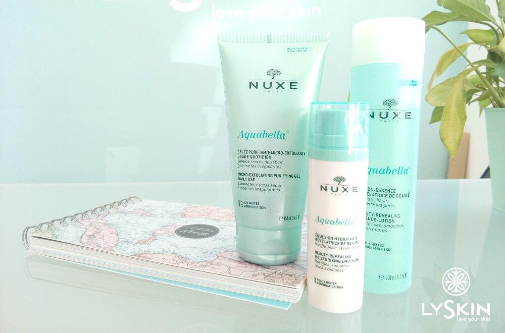 Nuxe Aquabella range 3 steps routine