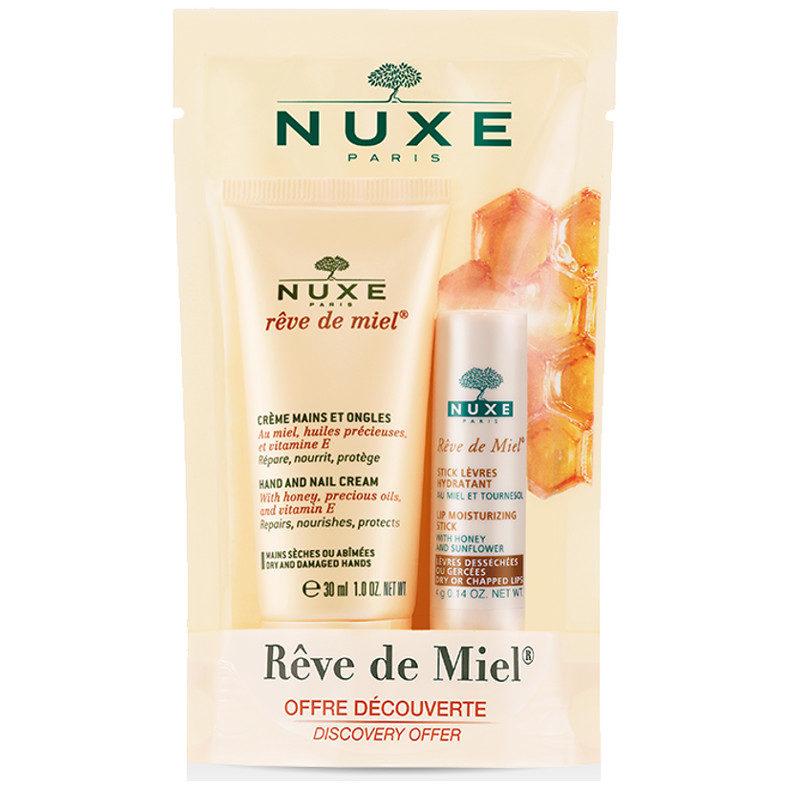Nuxe rêve de miel duo hand cream and lip conditioner