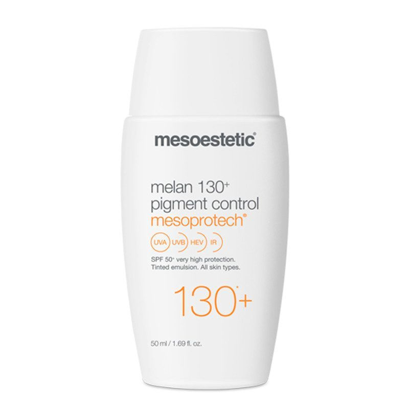 Mesoestetic melan 130 pigment control spf50 tinted sun protection for dark-spots 50ml