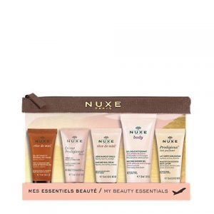 Nuxe My Beauty Ritual combines 5 fabulous products: - Rêve de Miel Makeup Removing Gel 15ml- Prodigieuse Boost Gel-Cream 15ml- Rêve de Miel Nail and Hand Cream 15ml - Body Shower Gel 30ml- Prodigieux Body Milk 15mlSpecial Limited Edition.