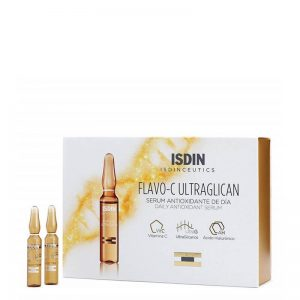 Isdin isdinceutics flavo-c ultraglican daily antioxidant serum ampoulles 10x2ml