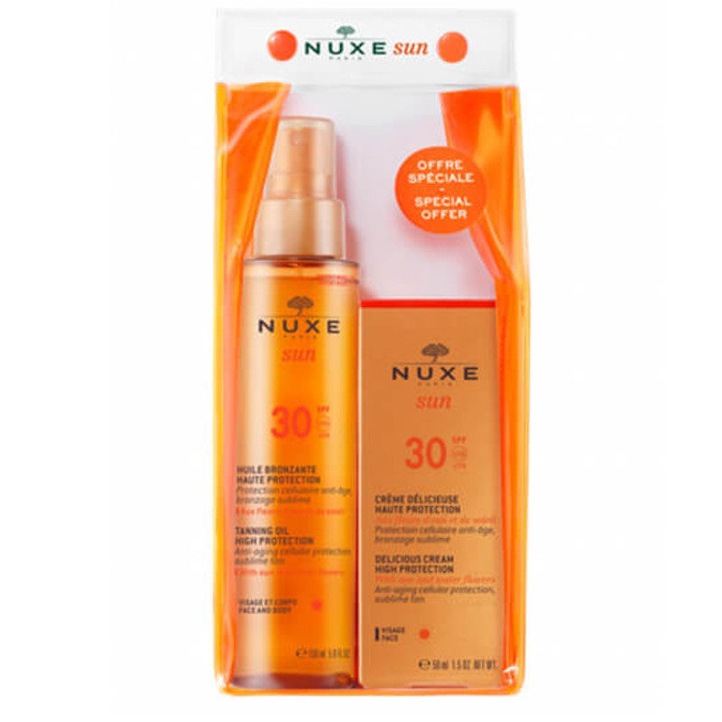 Nuxe sun spf30 set face and body