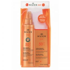 Nuxe sun spf50 set face and body
