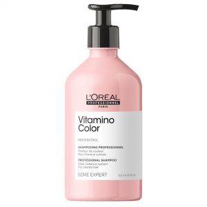 Loreal professionnel série expert vitamino color shampoo protects against color fading and gives 6x more shine to colored hair. 500ml