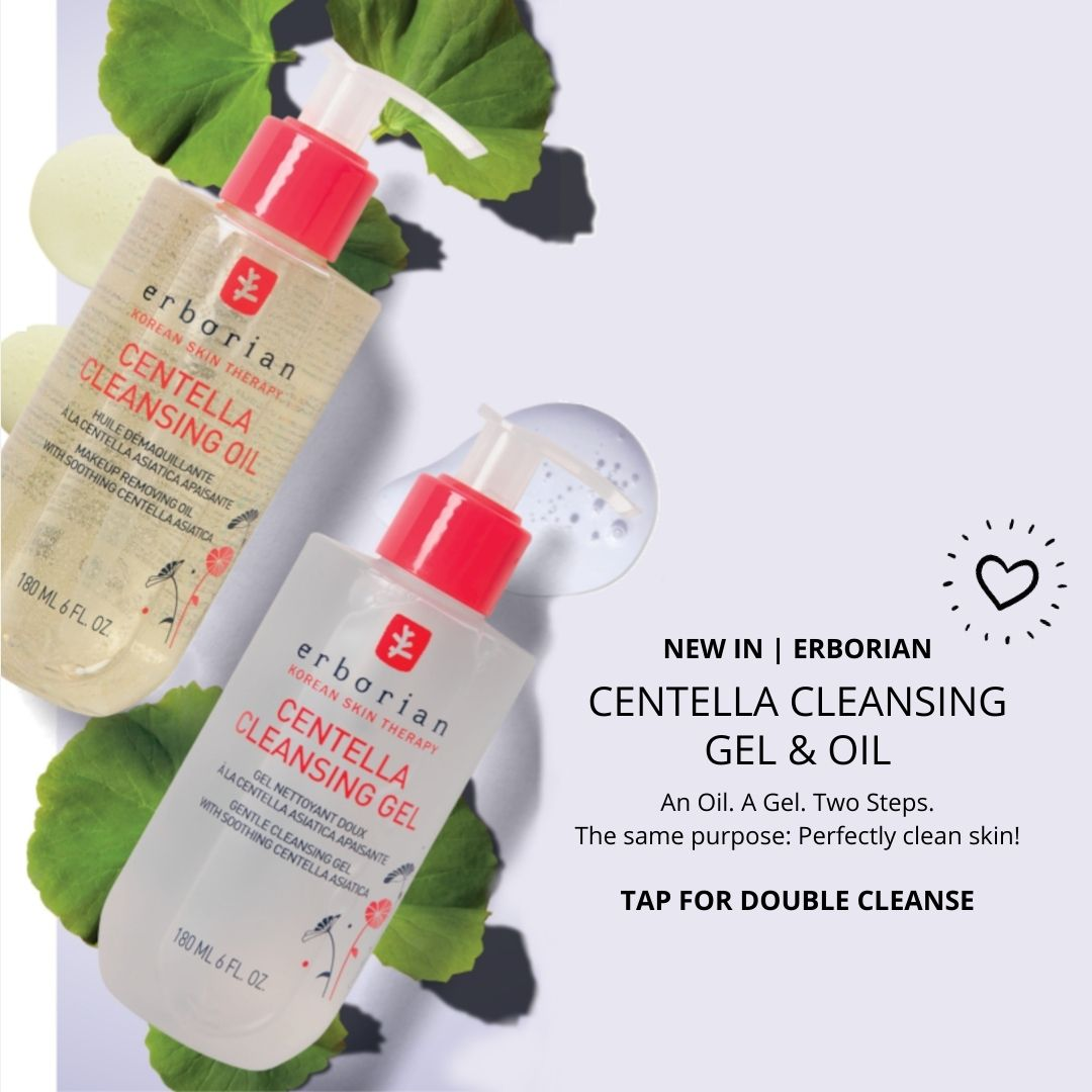 Lyskin Erborian Centella Cleansing Oil and Gel New In 2021