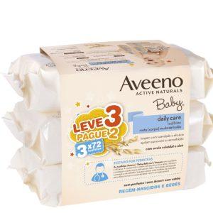 Aveeno baby wipes for sensitive skin 3x72units