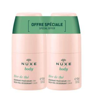 Special offer Nuxe rêve de thé duo roll-on fresh-feel deodorants 24h 2x50ml